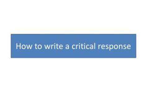 How to write response essay